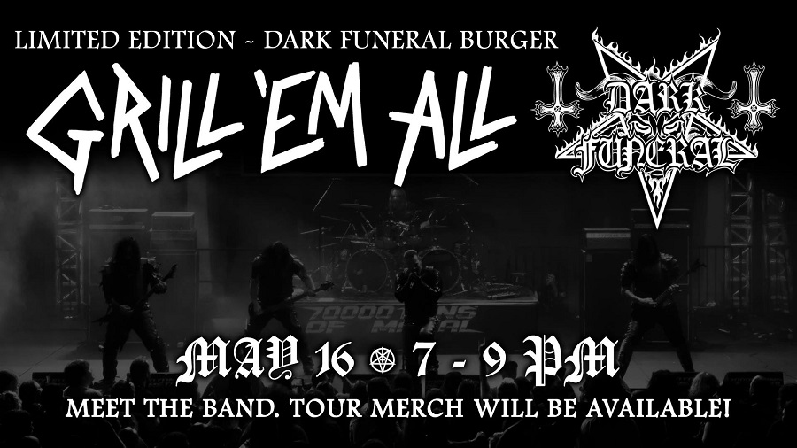 Dark Funeral's Meet and Greet Experience at Grill 'Em All on