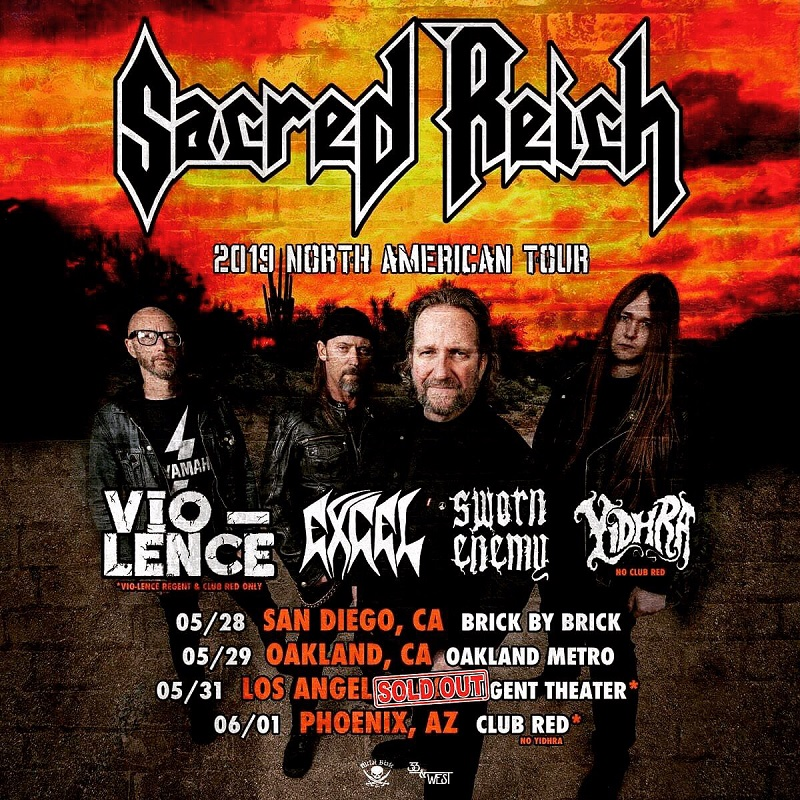 LIVE REVIEW: Sacred Reich Returns to Los Angeles on May 31